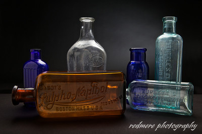 Antique Glass Bottles II