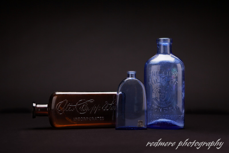 Antique Glass Bottles III