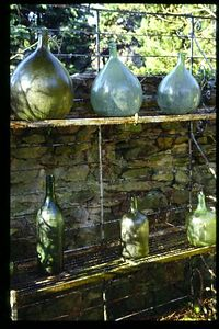 Bottle collection, Mornas, France