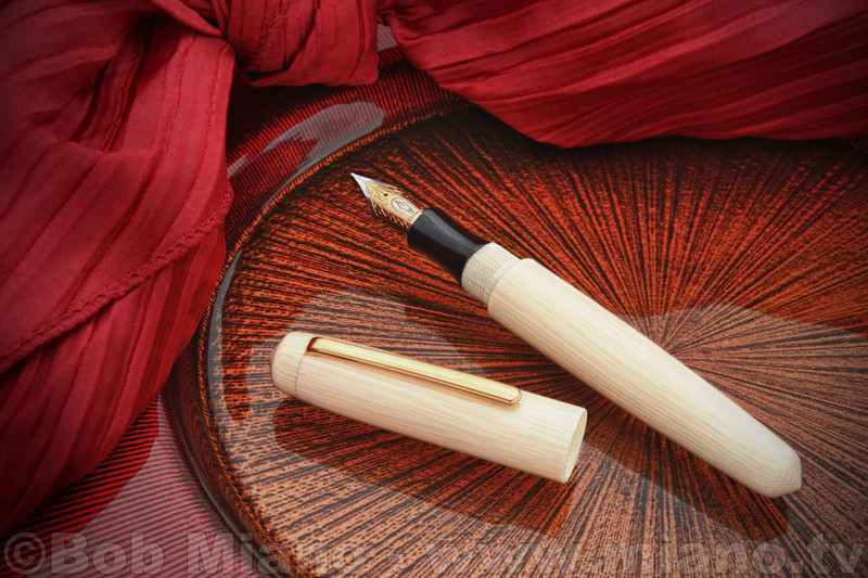 "Edison Faux Ivory Celluloid ""Pearl"" Fountain Pen"