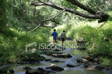"<a href=""http://www.istockphoto.com/file_closeup/object/2188170.php?id=2188170&refnum=jwilkinson"" target=""istock"">Children exploring a stream</a><br>2 boys exploring a stream together with nets, seeking minnows, etc.  Stream bounded by lush green forest and vegetation.<br><br>Concepts of searching, seeking, exploration, childhood pursuits, friendship, enjoying nature.<br>"