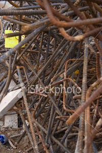 <a href=http://www.istockphoto.com/file_closeup/object/5687702.php?id=5687702&refnum=jwilkinson target=istock>Chaos and Structure</a><br>a chaotic pile of bent and rusty rebar (steel reinforcement bar) at a construction site<br><br>focus is on bars deeper into pile (center).<br><br>See also:<br><a href=http://www.istockphoto.com/file_closeup.php?refnum=jwilkinson&id=5687573><img border=0 src=http://www.istockphoto.com/file_thumbview_approve.php?refnum=jwilkinson&size=1&id=5687573></a> <br>