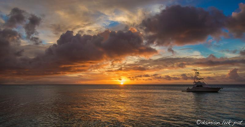 Sunset at Pigeon Point, Tobago