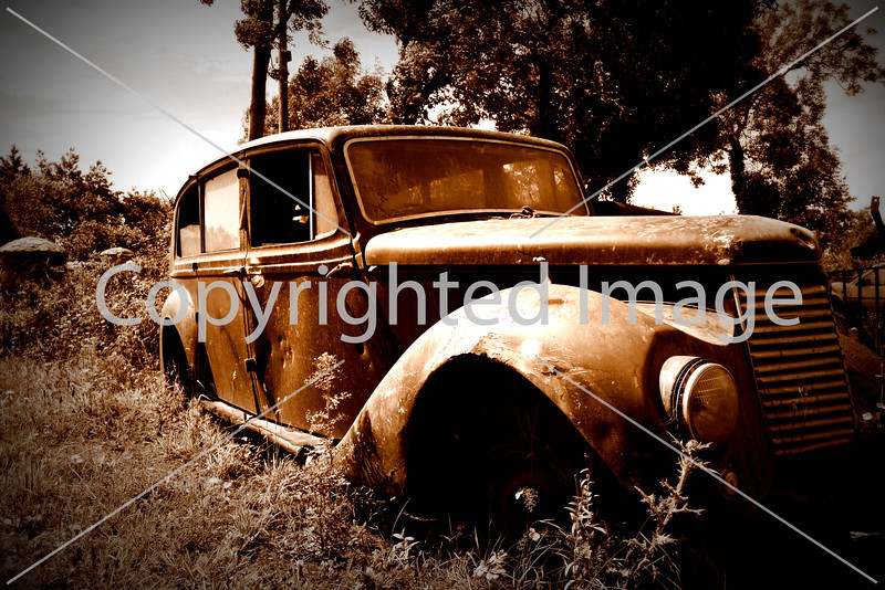 An abandoned Armstrong Siddley car near Waterford, Ireland