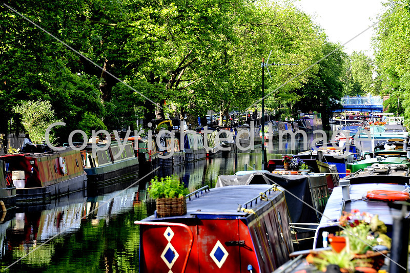 Canal Boats at Little Venice, London