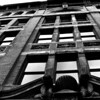 Building, Pioneer Square, Seattle, Washington State, Black and White