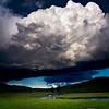 Looming Large; Big Cloud, Tiny Elk