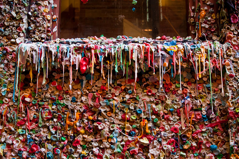 Gum Wall 1, Post Alley, Seattle, WA