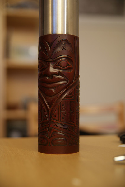 My traditional Cowichan... pepper grinder?  It's a long story...