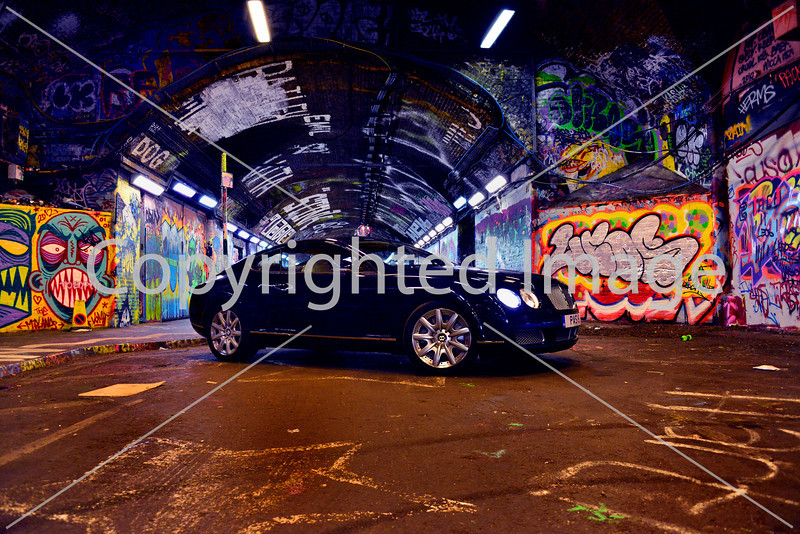 The Bentley Continental GT in the Old Vic Tunnel, Waterloo.