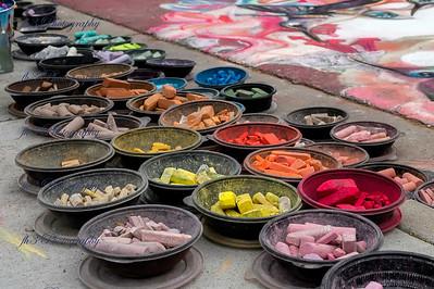 Denver Chalk Festival.  Bowls full of chalk alway make a great subject