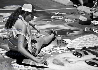 Denver Chalk Art Festival: could this be a self portrait?