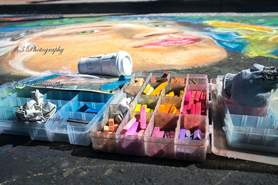 I went to the Chalk Festival, everyone shoots the actual art they are drawing. I took a different approach and thought I'd shoot the chalk they use.