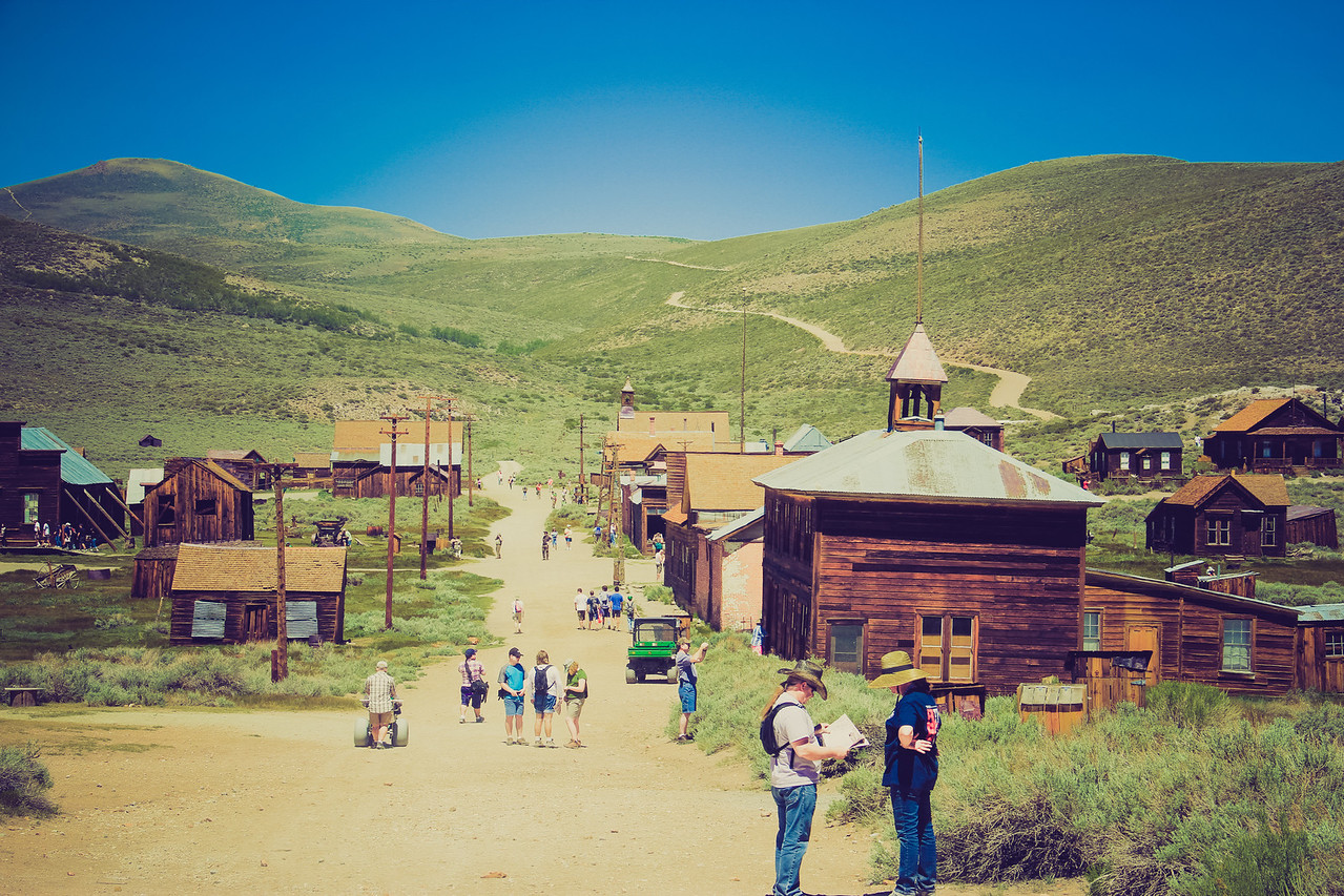 Western Cartography- Old west street photography dreams in LOMO  -  Bodie Ca - Summer 2012