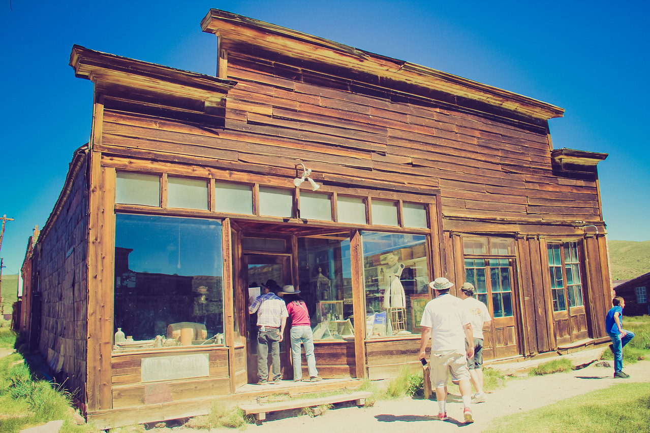 window shopping the past in a company town.  Bodie Ca