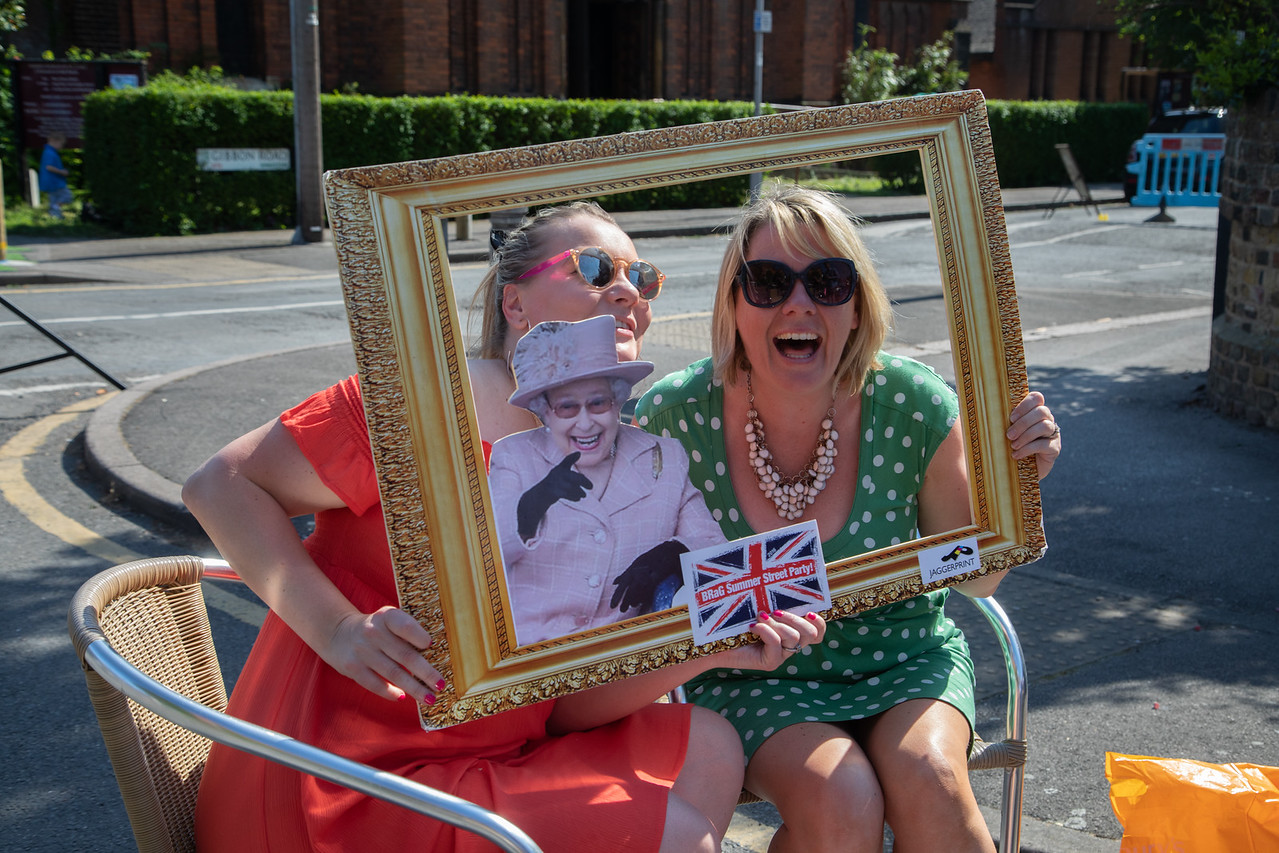 Kingston-upon-Thames, southwest London, England, UK. 19th May 2018. A neighbourhood street party to celebrate the royal wedding of Prince Harry and Meghan Markle.