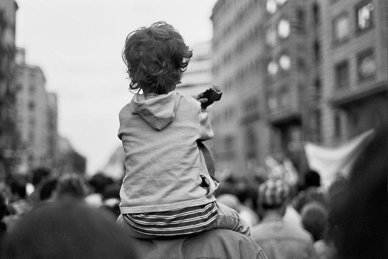 Young demonstrator, Barcelona