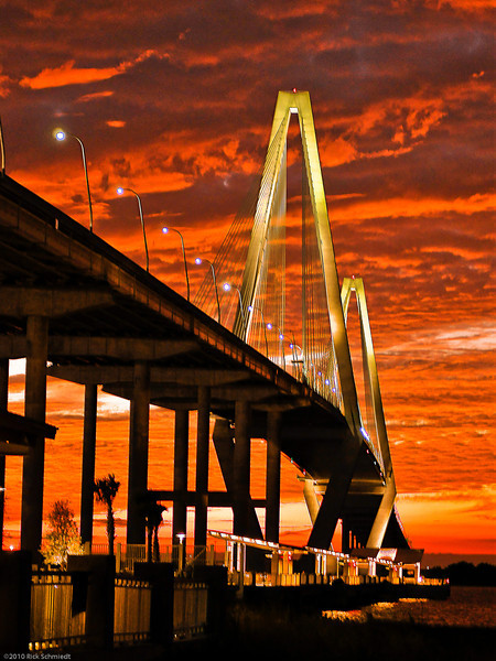 Ravenel Bridge Sunset
