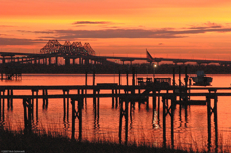 Old Bridges from Hobcaw Point