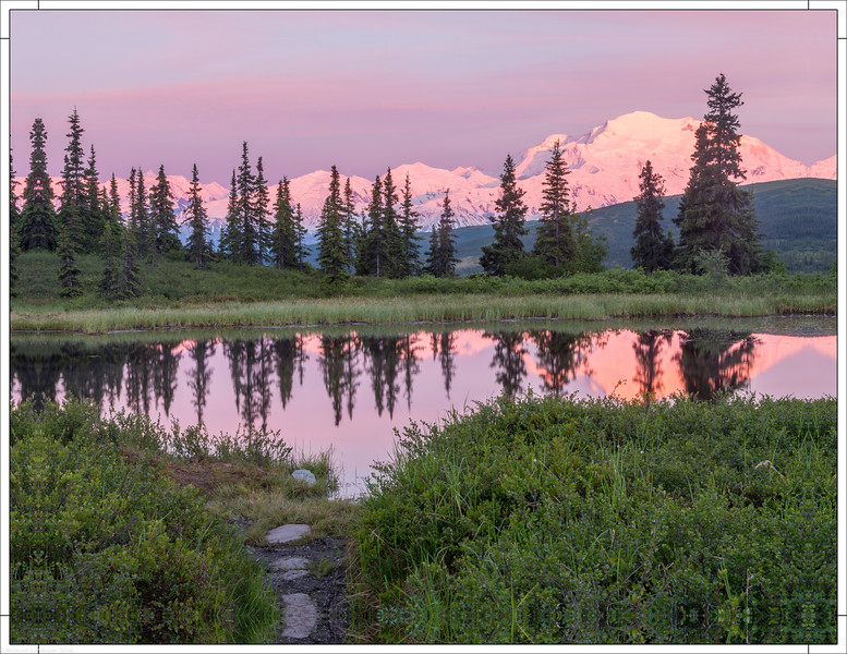 Mount Denali Alpine Glow at 1AM