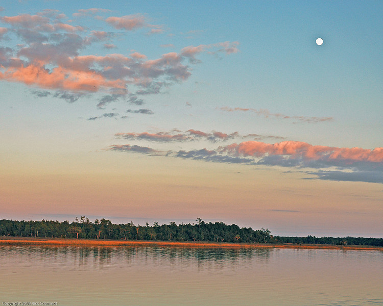 Moonrise at Sunset on Beresford Creek
