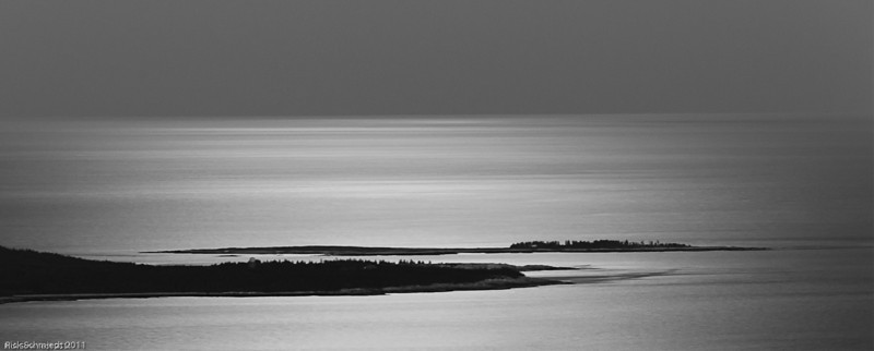 Moonglow from Cadillac Mountain, Maine B&W