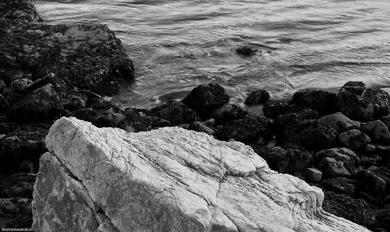 Ship Harbor Rocks B&W