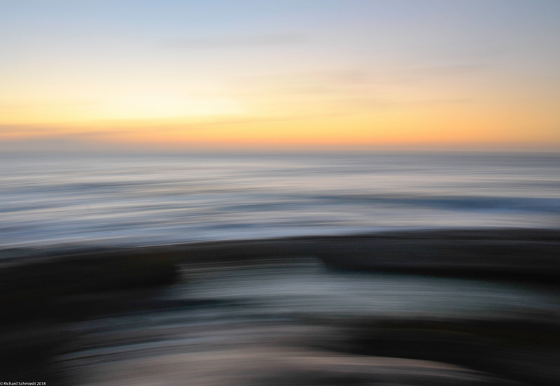 Narragansett Ocean Sunset Blur