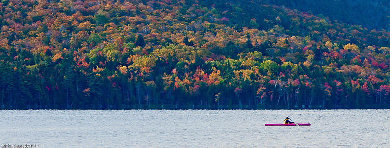 Fall Colors on Eagle Lake, Maine