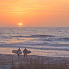 Sunrise Surfers on Folly Beach