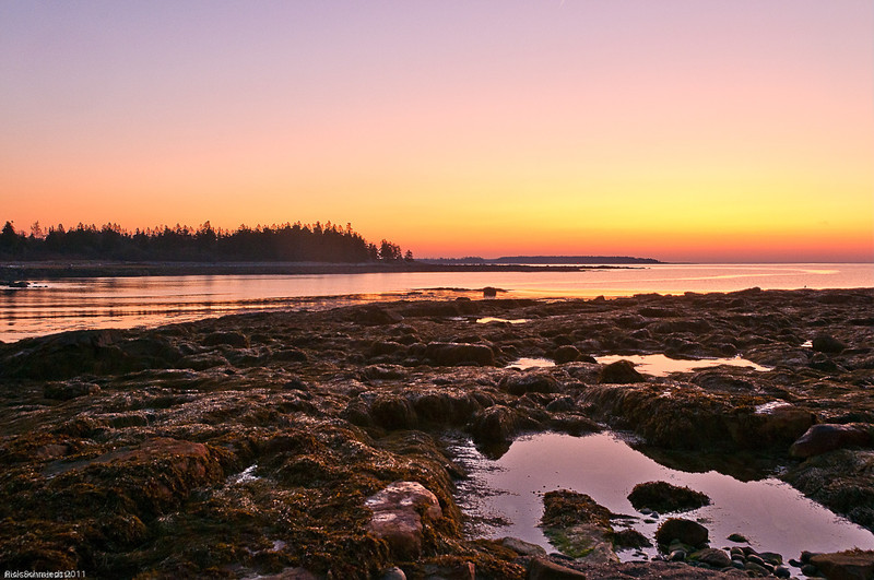 Sunrise at Stony Beach, Southwest Harbor, Maine