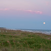 Isle of Palms Moonrise at Sunset