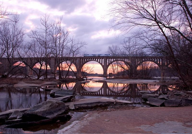James River Railroad Trestle - Richmond VA - Feb 2008