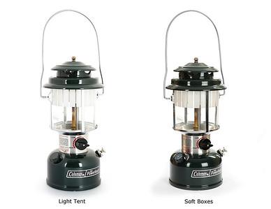 Light tent vs soft box lighting