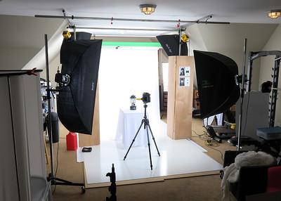 Soft box lighting setup
