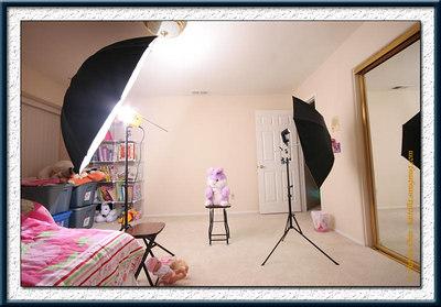 UWA shot of the setup