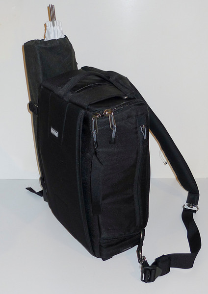 22 pounds of portable studio including second battery pack and charger.