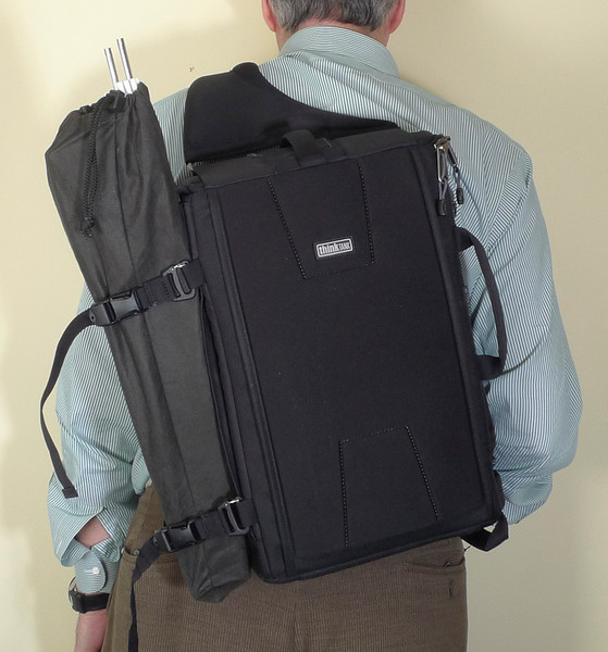 """Think Tank Sling-O-Matic 20, in carrying mode.  <br /> <a href=""""http://www.thinktankphoto.com/products/sling-o-matic-20.aspx"""">http://www.thinktankphoto.com/products/sling-o-matic-20.aspx</a>"""