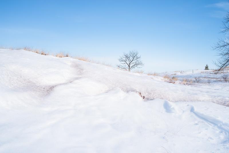 Lake Superior sand dune, Park Point, Duluth, MN  #sanddune #snow #littletree #pentaxk1 #blue