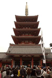Five Storied Pagoda, Sensoji, Tokyo