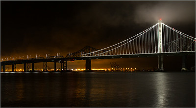 San Francisco/Oakland Bay Bridge, from Treasure Island, #3983-7D