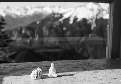 We sit together the mountain and me...