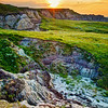 """The """"Wall"""" formation in remote Corson County, SD at sunset."""