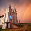 A passing summer storm in rural Yankton County, South Dakota.