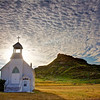 South Cave Hills Church on a summer morning in Harding County, SD.