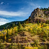 Fall color in scenic Spearfish Canyon, South Dakota