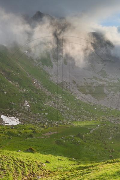 Seefeldstock In Low Clouds