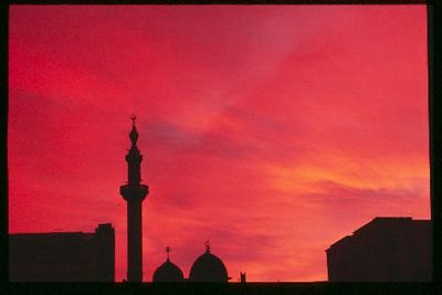 Sunrise with Mosque, Aleppo, Syria