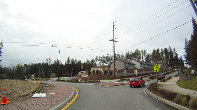 Roundabout at Pine Lake - Issaquah Road