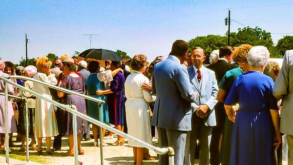 Dessie's funeral in Salesville, September, 1985